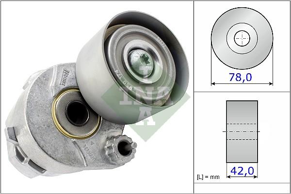 Galet tendeur accessoires INA 531 0604 30 (X1)