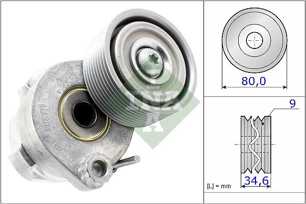 Galet tendeur accessoires INA 531 0605 30 (X1)