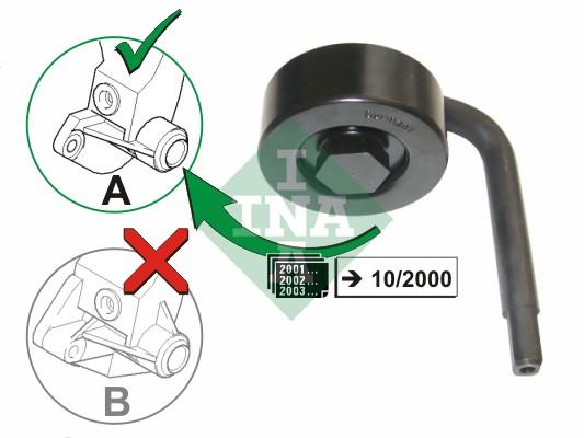 Galet tendeur accessoires INA 531 0789 10 (X1)