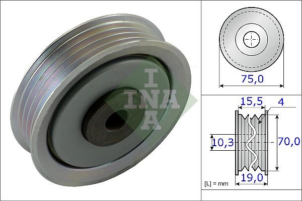 Galet tendeur accessoires INA 531 0845 10 (X1)