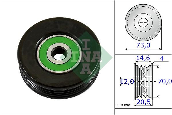 Galet tendeur accessoires INA 531 0852 10 (X1)