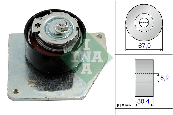 Galet tendeur de distribution INA 531 0858 10 (X1)