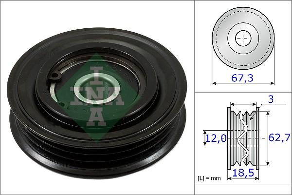 Galet tendeur accessoires INA 531 0861 10 (X1)