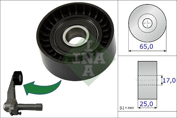 Galet tendeur accessoires INA 531 0866 10 (X1)