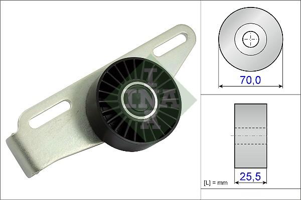 Galet tendeur accessoires INA 531 0868 10 (X1)