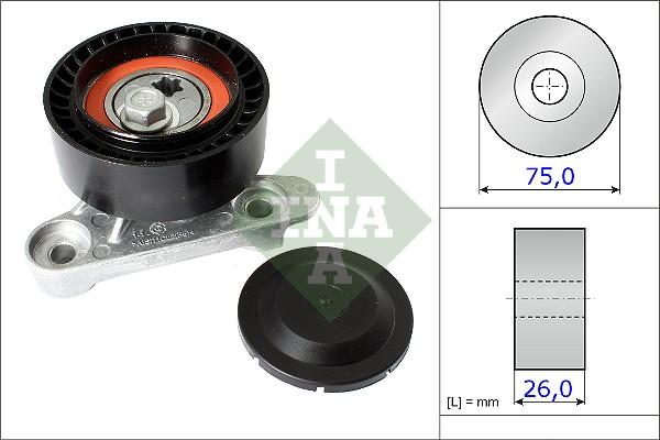 Galet tendeur accessoires INA 531 0871 10 (X1)