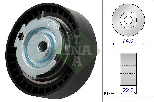 Galet tendeur de distribution INA 531 0876 10 (X1)