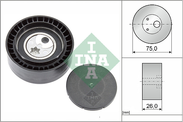 Galet tendeur accessoires INA 531 0930 10 (X1)