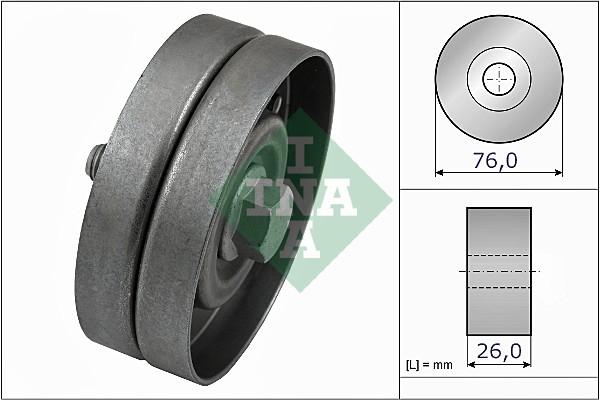 Galet enrouleur accessoires INA 532 0326 30 (X1)