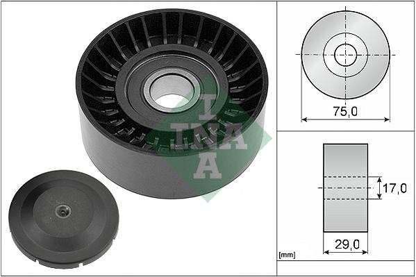 Galet enrouleur accessoires INA 532 0536 10 (X1)