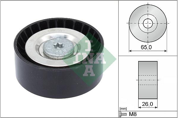 Galet enrouleur accessoires INA 532 0571 10 (X1)
