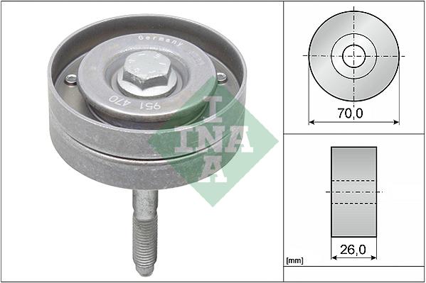 Galet enrouleur accessoires INA 532 0596 10 (X1)
