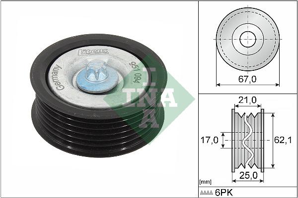 Galet enrouleur accessoires INA 532 0629 10 (X1)