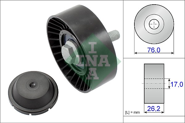 Galet enrouleur accessoires INA 532 0632 10 (X1)