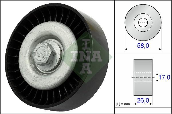 Galet enrouleur accessoires INA 532 0669 10 (X1)
