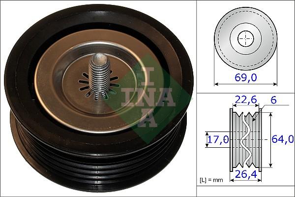 Galet enrouleur accessoires INA 532 0671 10 (X1)