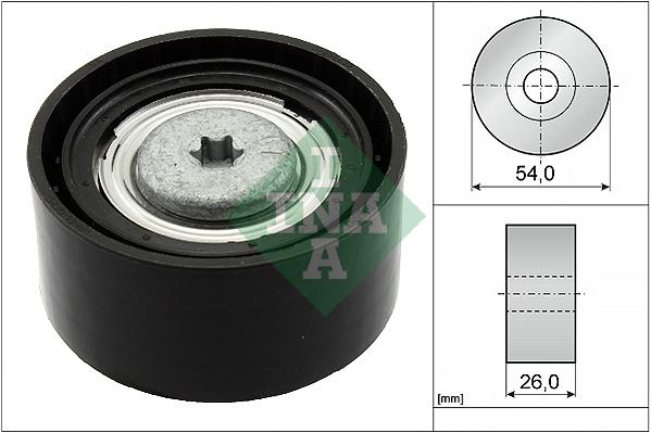 Galet enrouleur accessoires INA 532 0672 10 (X1)