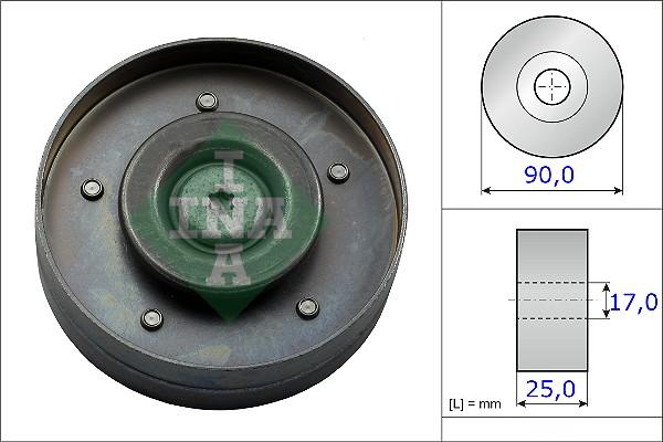 Galet enrouleur accessoires INA 532 0694 10 (X1)