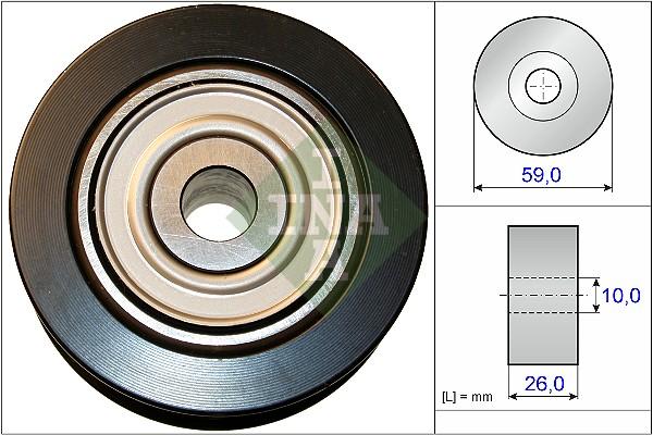 Galet enrouleur accessoires INA 532 0737 10 (X1)