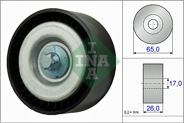 Galet enrouleur accessoires INA 532 0777 10 (X1)