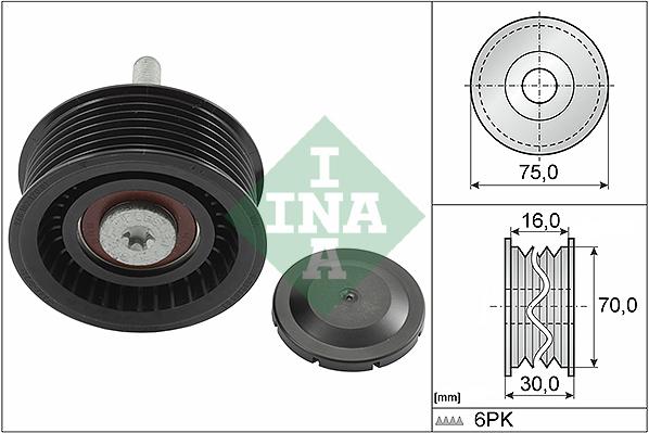 Galet enrouleur accessoires INA 532 0801 10 (X1)