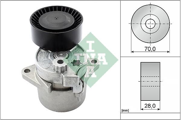Tendeur de courroie d'accessoires INA 533 0017 10 (X1)