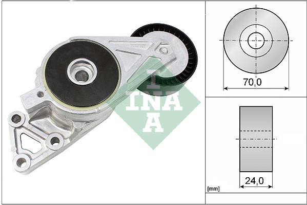 Tendeur de courroie d'accessoires INA 533 0076 30 (X1)