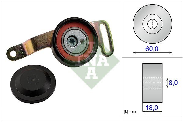 Tendeur de courroie d'accessoires INA 533 0078 10 (X1)