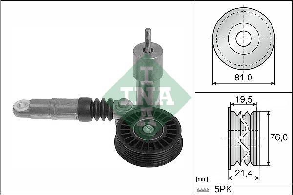 Tendeur de courroie d'accessoires INA 534 0014 10 (X1)