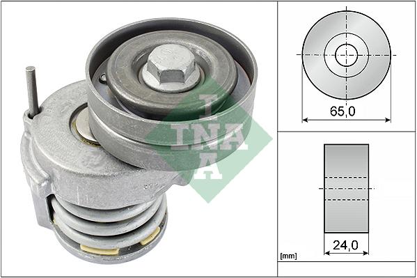 Tendeur de courroie d'accessoires INA 534 0065 10 (X1)