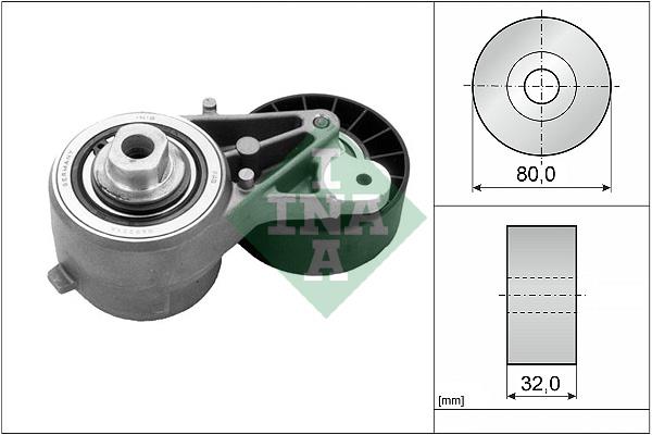 Tendeur de courroie d'accessoires INA 534 0077 20 (X1)