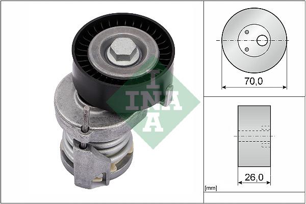Tendeur de courroie d'accessoires INA 534 0123 20 (X1)