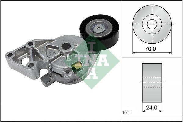Tendeur de courroie d'accessoires INA 534 0132 30 (X1)