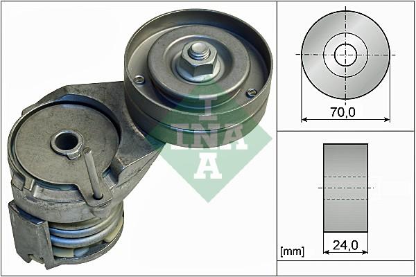 Tendeur de courroie d'accessoires INA 534 0138 30 (X1)