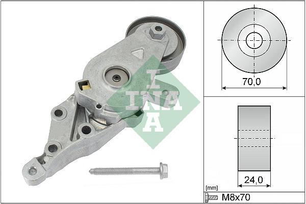 Tendeur de courroie d'accessoires INA 534 0140 30 (X1)