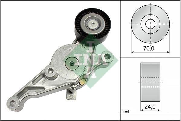 Tendeur de courroie d'accessoires INA 534 0151 10 (X1)