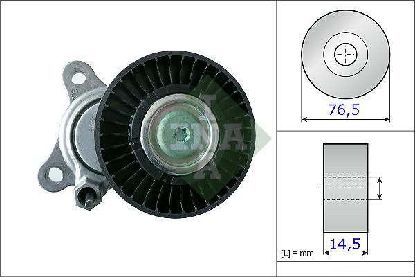 Tendeur de courroie d'accessoires INA 534 0168 10 (X1)