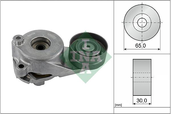Tendeur de courroie d'accessoires INA 534 0183 10 (X1)