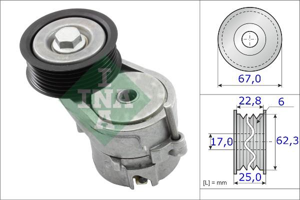 Tendeur de courroie d'accessoires INA 534 0246 10 (X1)
