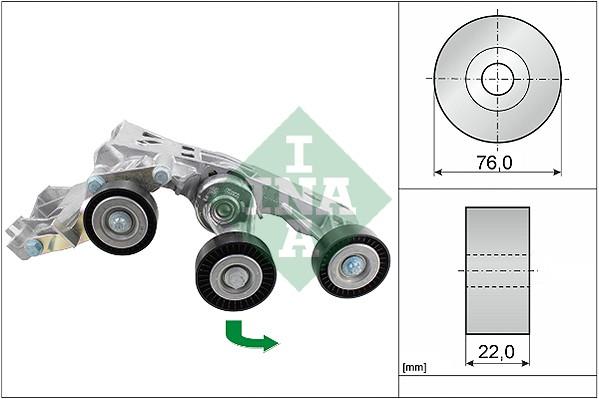 Tendeur de courroie d'accessoires INA 534 0338 10 (X1)