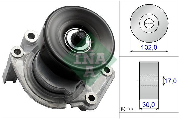 Tendeur de courroie d'accessoires INA 534 0350 10 (X1)