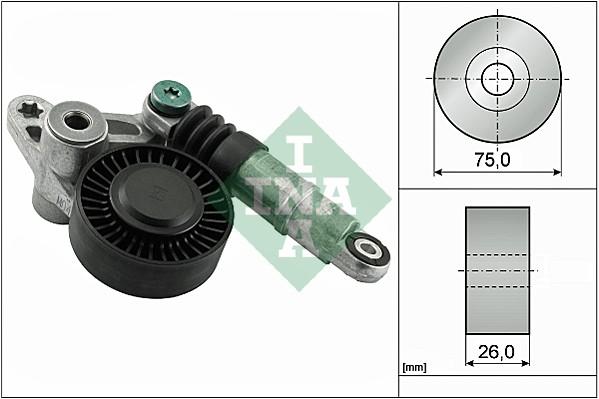 Tendeur de courroie d'accessoires INA 534 0356 10 (X1)