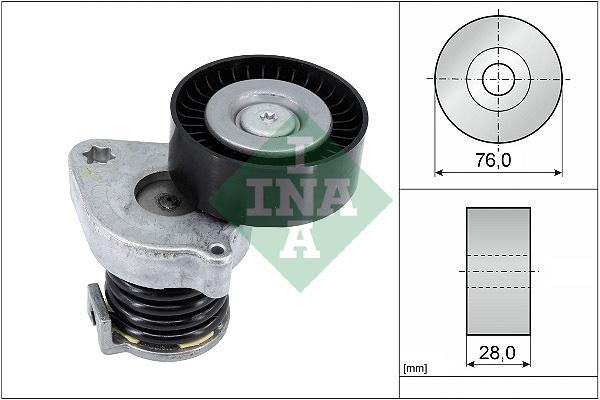 Tendeur de courroie d'accessoires INA 534 0370 10 (X1)