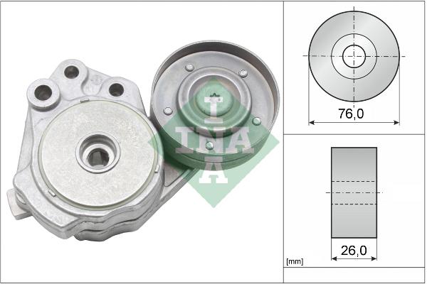 Tendeur de courroie d'accessoires INA 534 0374 10 (X1)