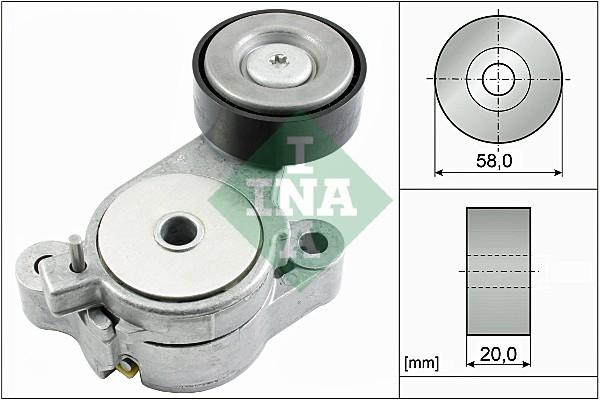 Tendeur de courroie d'accessoires INA 534 0396 10 (X1)