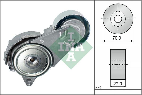 Tendeur de courroie d'accessoires INA 534 0408 10 (X1)