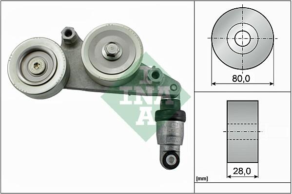 Amortisseur de tendeur courroie accessoires INA 534 0415 10 (X1)