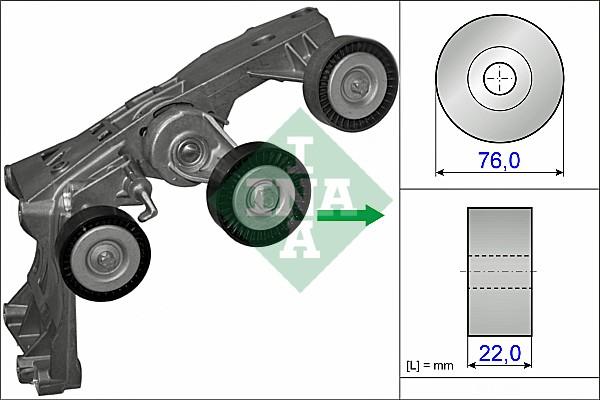 Tendeur de courroie d'accessoires INA 534 0431 10 (X1)