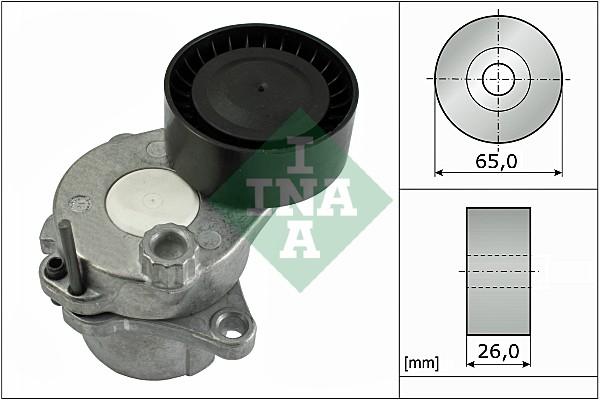 Tendeur de courroie d'accessoires INA 534 0443 10 (X1)