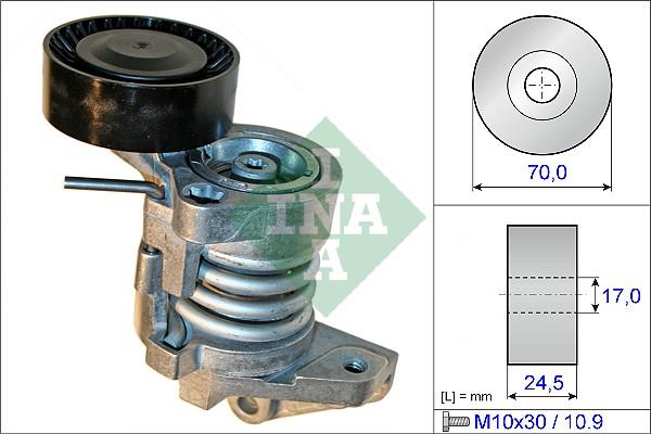Tendeur de courroie d'accessoires INA 534 0450 10 (X1)